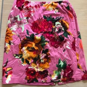 Talbot Hot Pink Floral Skirt
